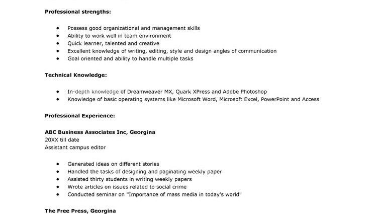 Resume Format For College Application. Examples Of Resumes For ...