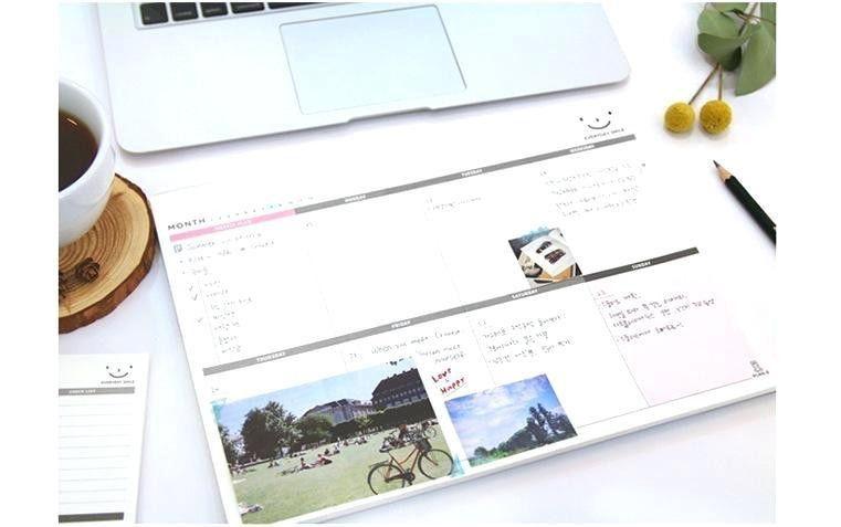 Desk ~ Korean Kawaii Cute Daily Weekly Monthly Plan Desk Note Pad ...