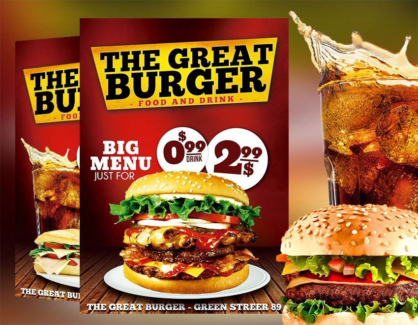 Fast Food Restaurant Flyer Template PSD - Download Graphicfy Flyers