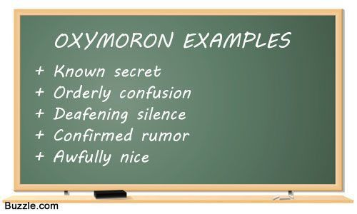 Some Fascinating Examples of Oxymoron Which We Use Regularly ...