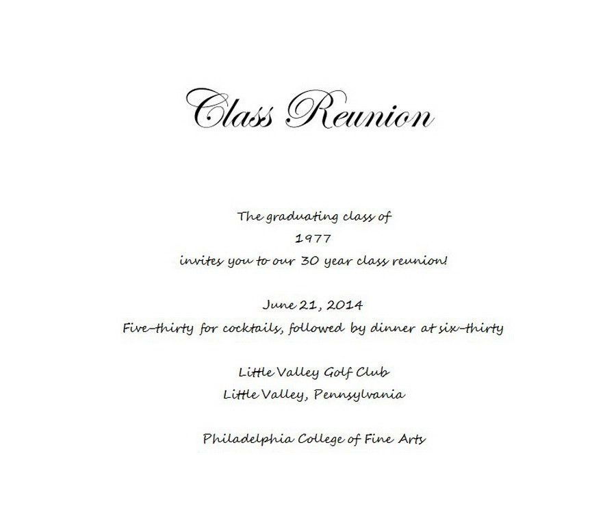 Class Reunion | Free Suggested Wording by Theme | Geographics