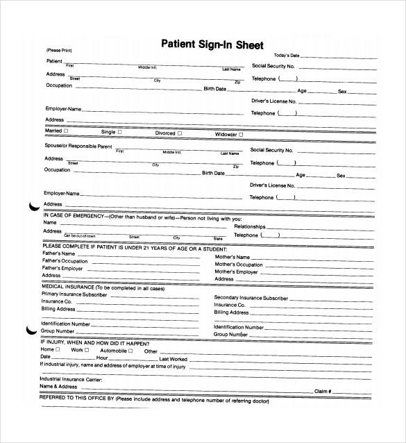 18+ Sign In Sheet Templates – Free Sample, Example, Format ...