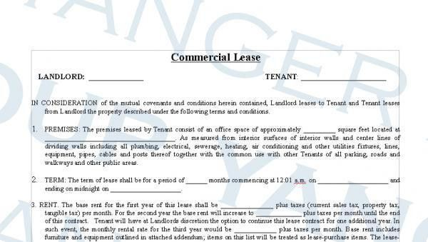 40 Sample Lease Agreement Forms 43 [Template.billybullock.us ]