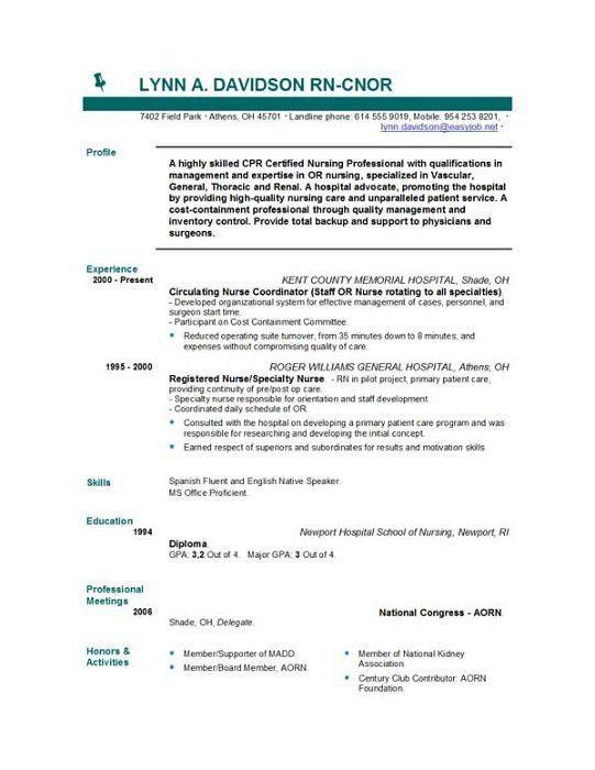 dental staff nurse resume