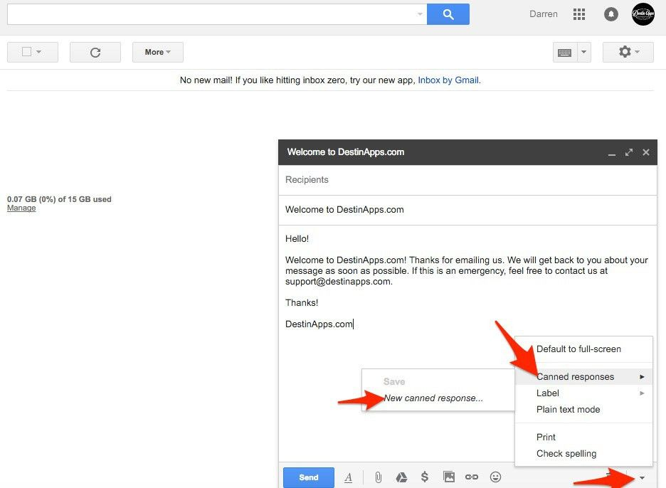 Five Steps to Setup and Use Gmail Canned Response Email Templates ...