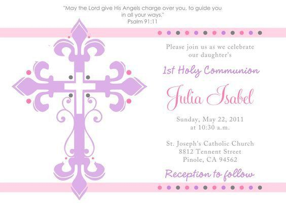 First Communion Invitation Templates - plumegiant.Com