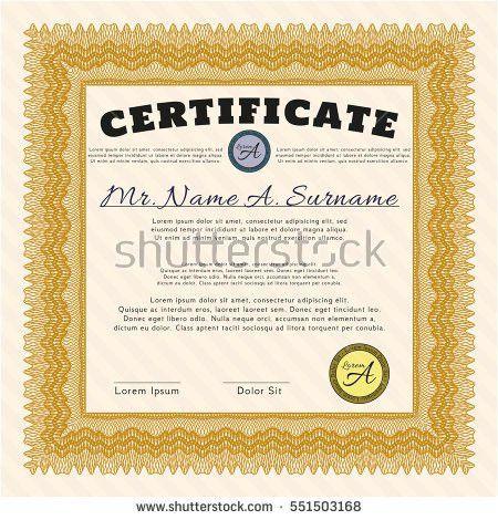 Certificate Template Thai Art Certificate Design Stock Vector ...
