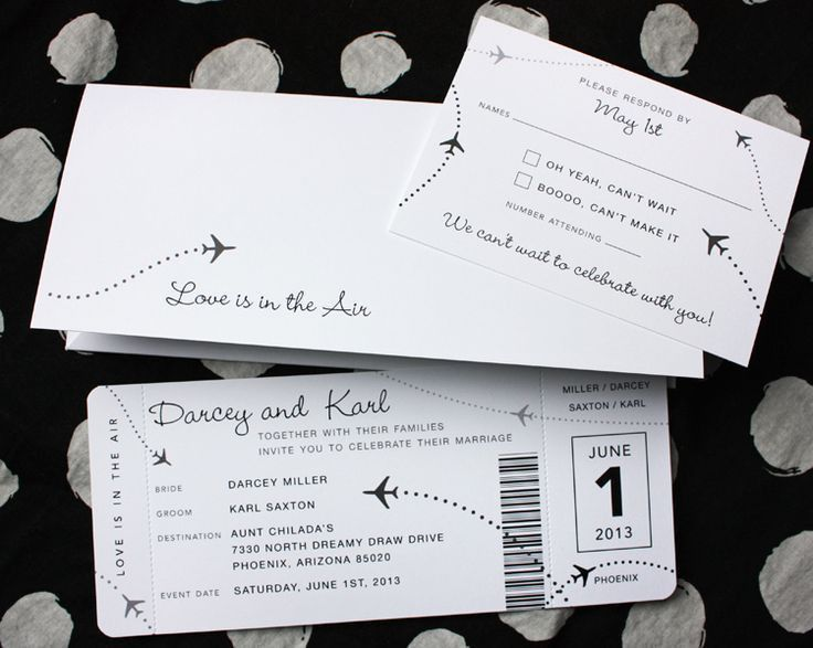 Best 20+ Ticket Invitation Ideas On Pinterest | Old Hollywood .  Airplane Ticket Invitations