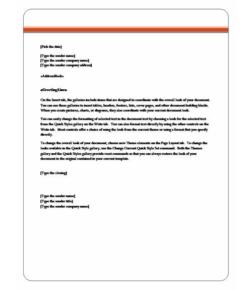 word letter template 2010 - Template