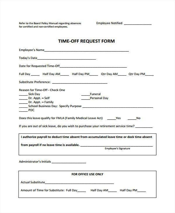 25+ Time Off Request Forms