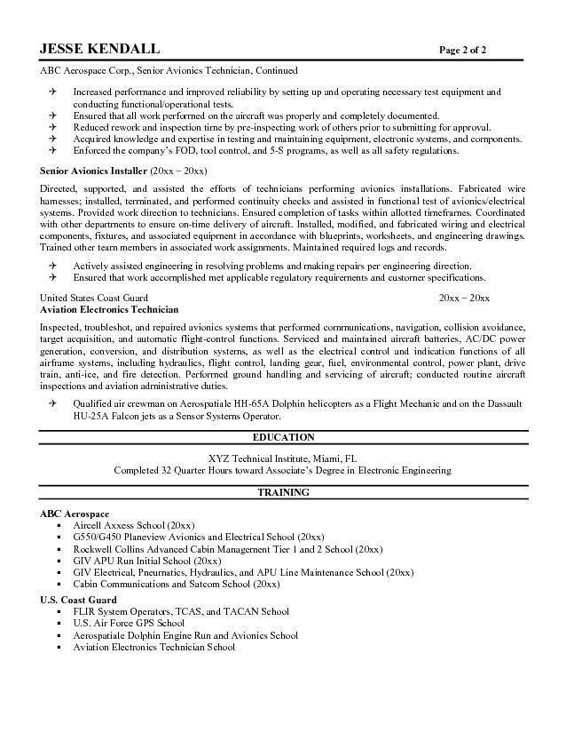Technician Resume Samples Visualcv Resume Samples Database 2017 ...