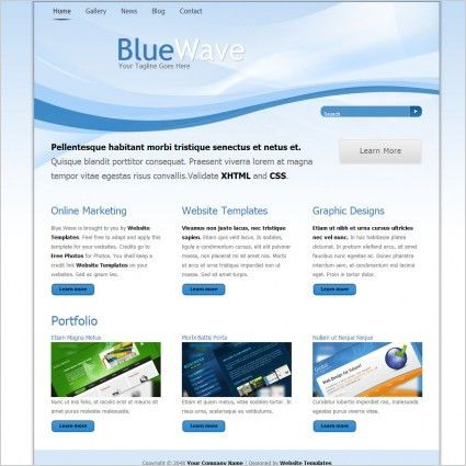 Blue wave Free website templates in css, html, js format for free ...