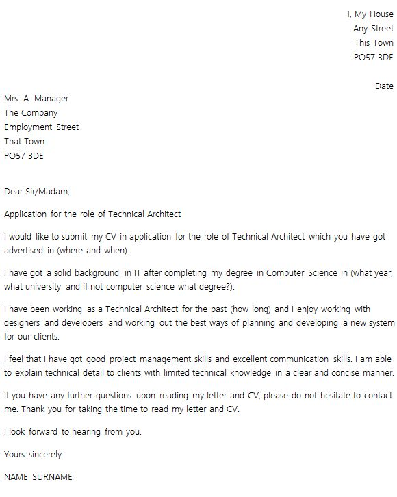 Cover Letter Layout Example - icover.org.uk
