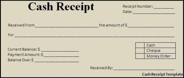 Cash Receipt Template Designs : Selimtd