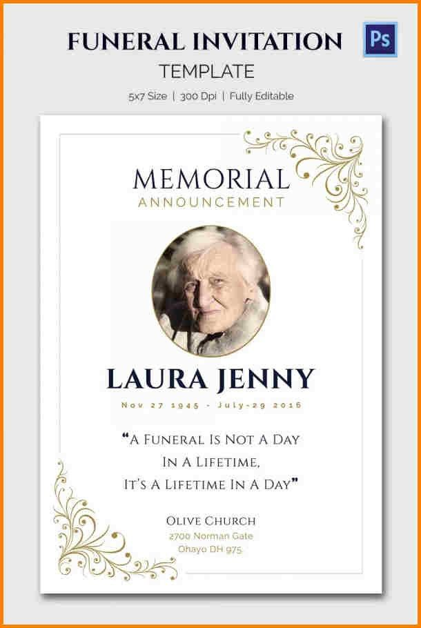 Invitation For Funeral Ceremony August Anderssons Funeral – Funeral Ceremony Invitation