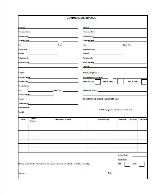 Business Invoice Sample. Basic Service Invoice Template Pdf 9+ ...
