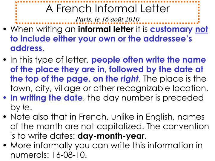 How To Write Business Letter In French - Cover Letter Templates
