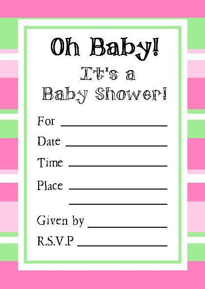 Baby Shower Template Invitations | THERUNTIME.COM