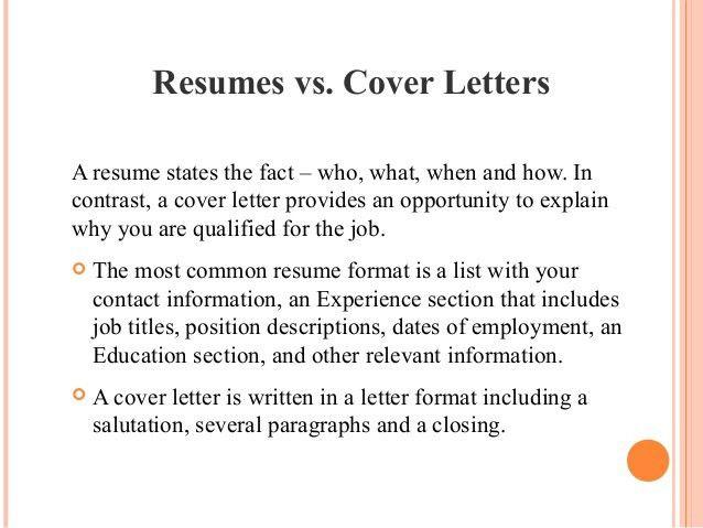 cover letter vs resume cover letter database. resume vs cover ...