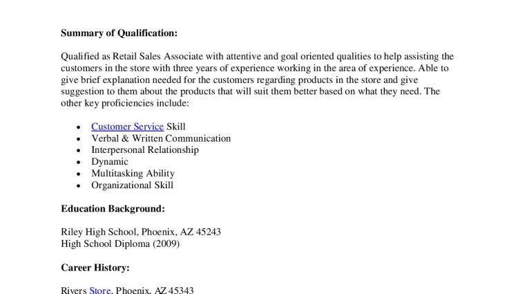 Retail Sales Associate Resume Example. Old Version Sales Resume ...