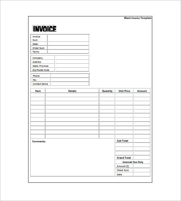 Standard Invoice Template – 8+ Free Sample, Example, Format ...