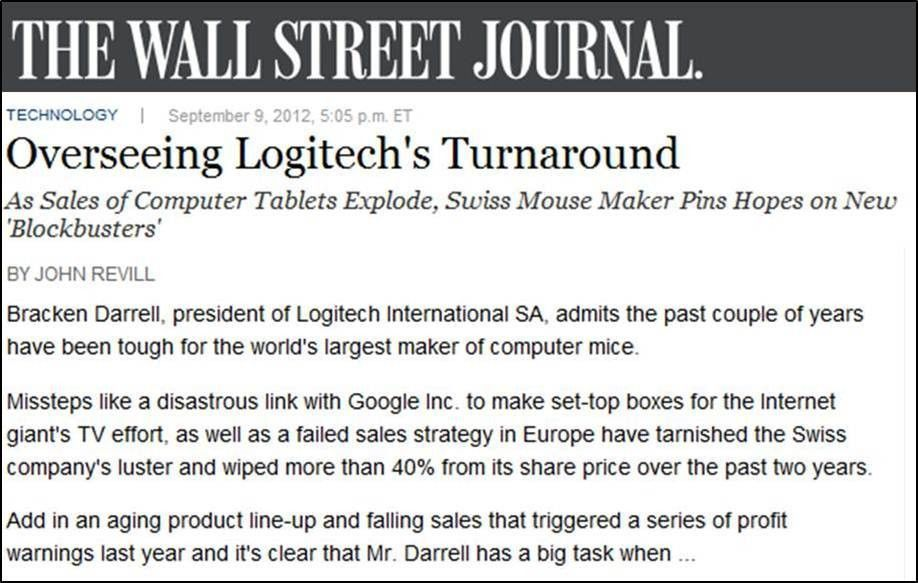 The Non Sequitur as a Storytelling Technique, Logitech Turnaround ...