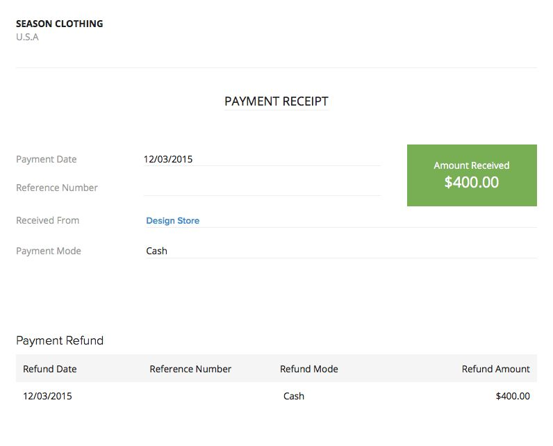 Refund Excess Payment