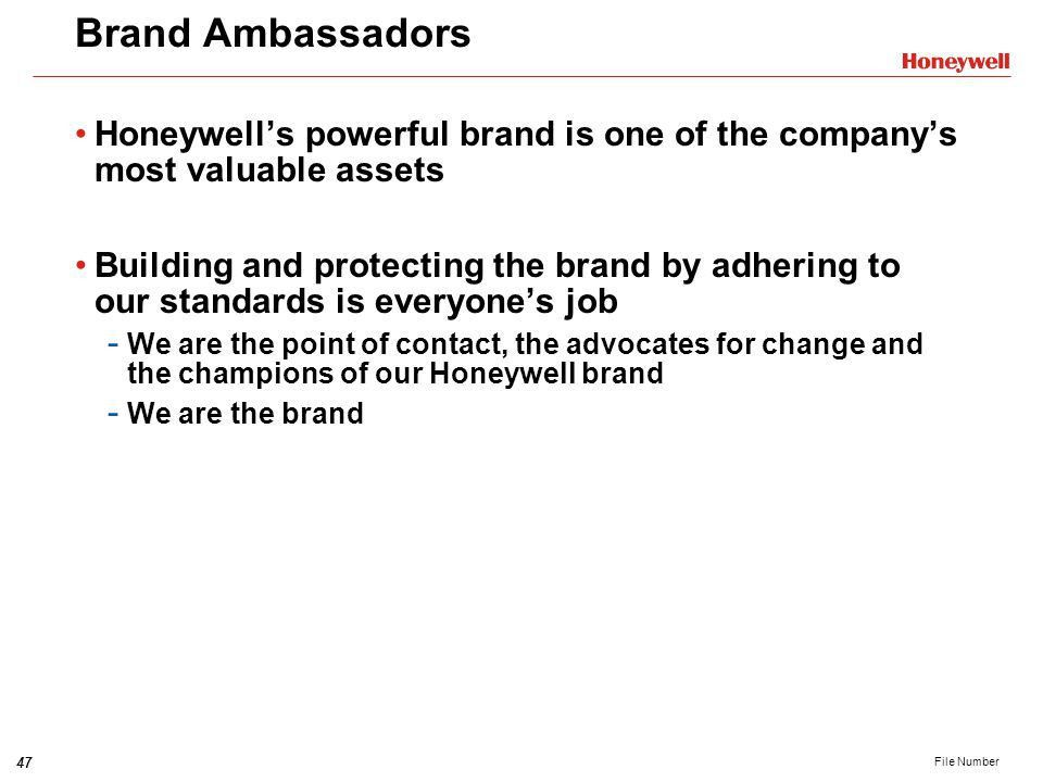 Honeywell Brand Strategy and Visual Identity System Training ...
