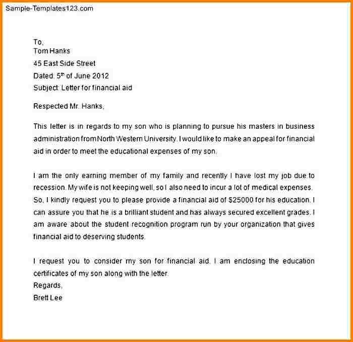 8+ financial aid request letter | quote templates