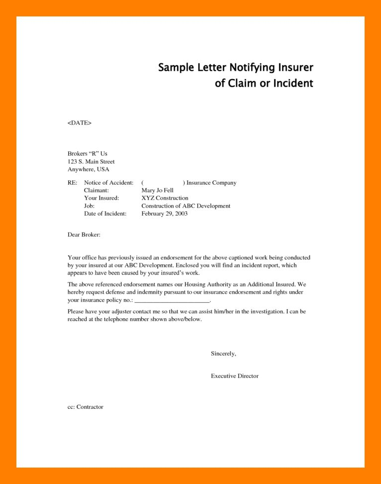 3+ accident report letter | resume sections