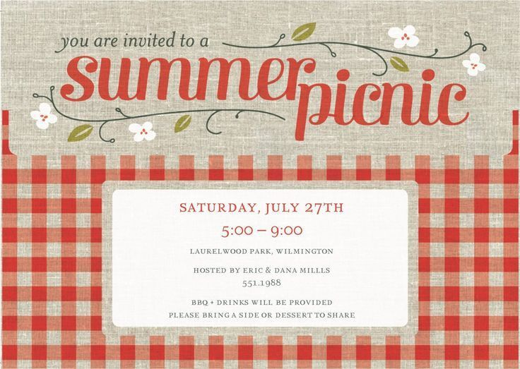 Picnic Invitation Template. Picnic Party Invitations Enriching ...