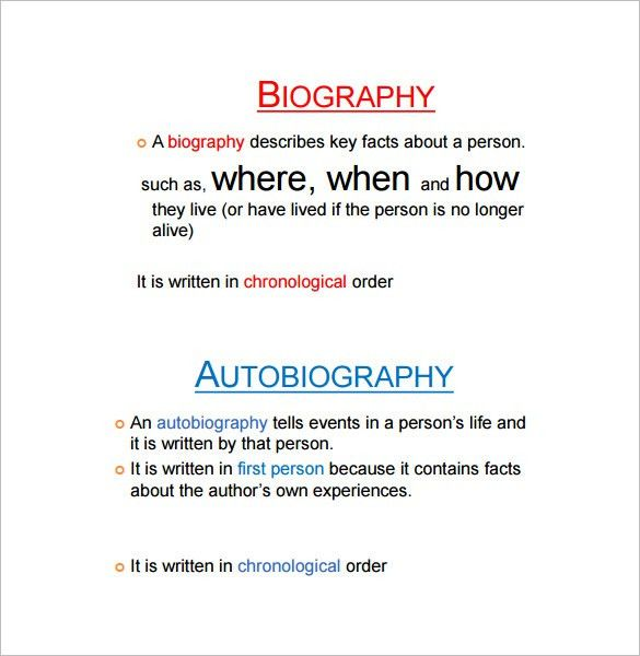 Autobiography Outline Template – 17+ Free Word, PDF Documents ...