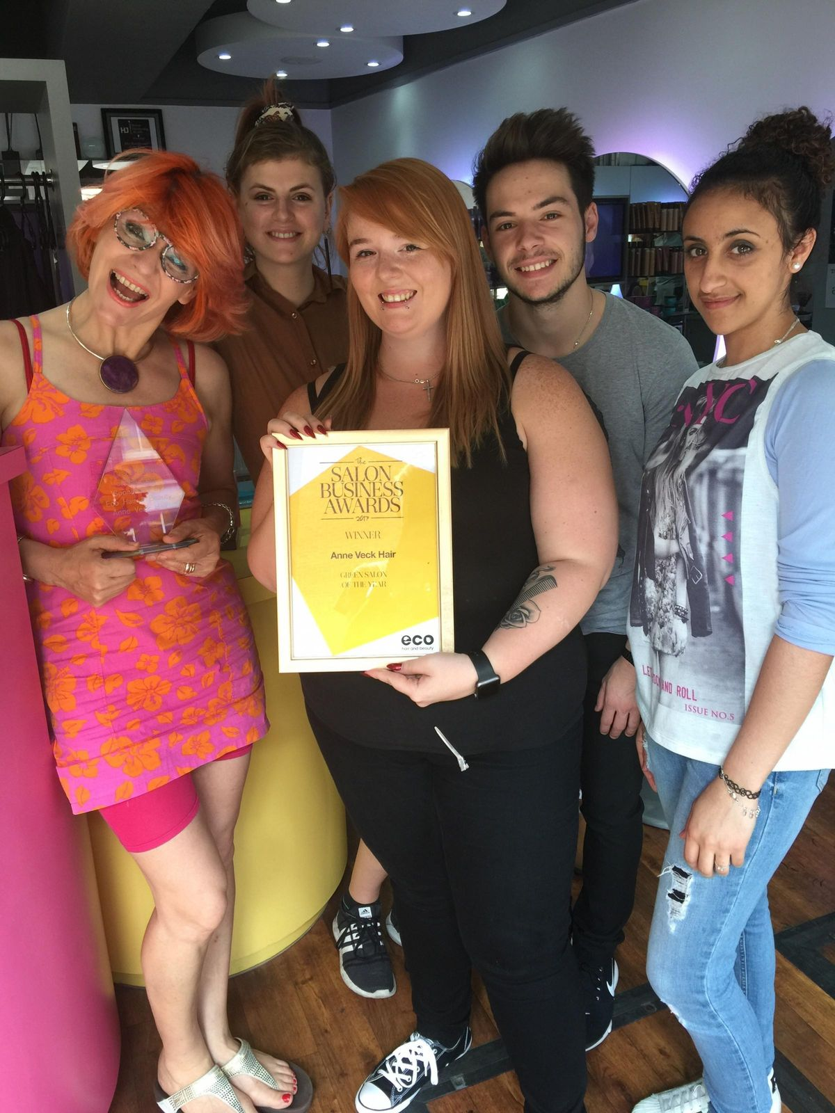 Oxford and Bicester salon Anne Veck Hair scoops green award at ...