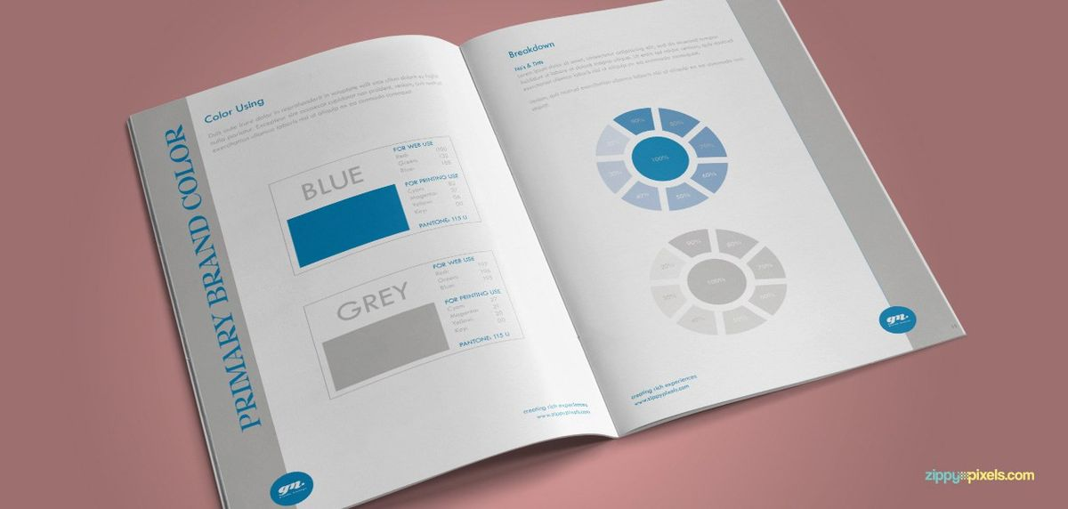 The Minimalistic – Brand Guidelines Template - Brand Color ...