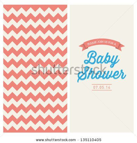 Baby Shower Invitation Card Editable Type Stock Vector 135110846 ...