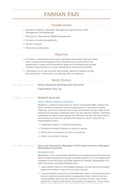 Senior Business Development Executive Resume samples - VisualCV ...