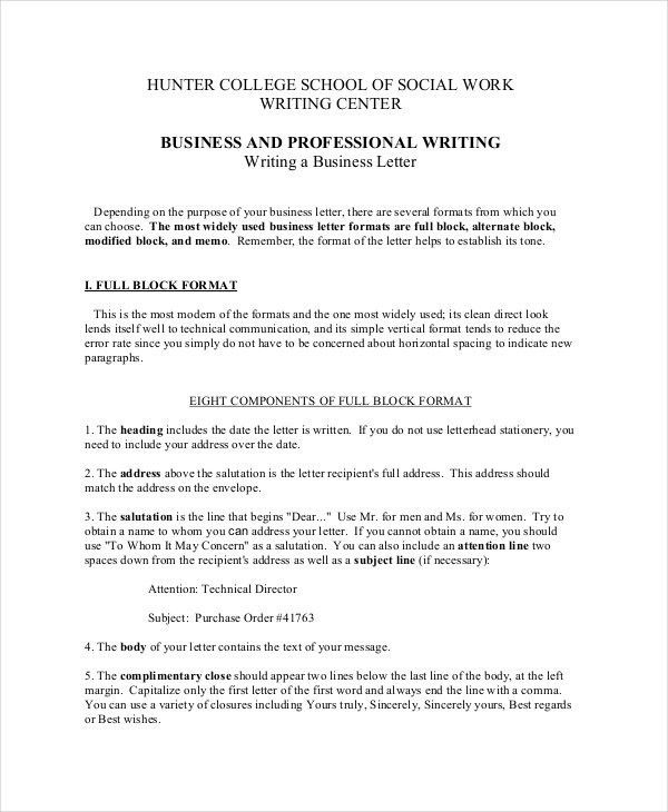 Business Letter Format - 12+ Free Word, PDF Documents Download ...