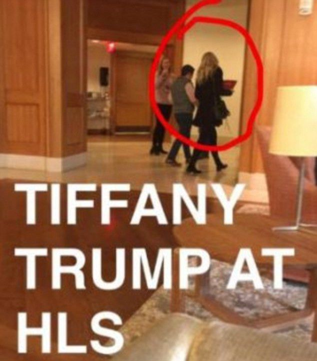 Donald's youngest daughter Tiffany Trump spotted touring Harvard ...