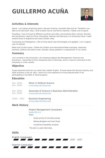 Project Management Consultant Resume samples - VisualCV resume ...