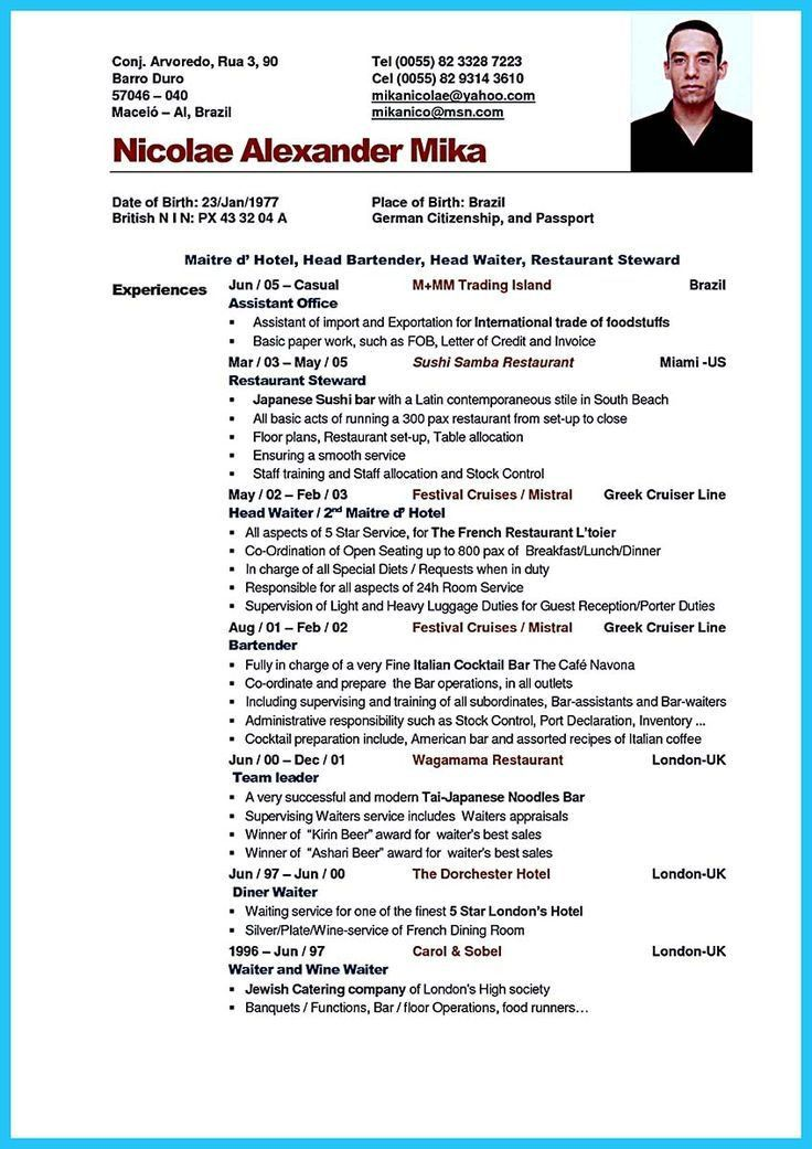 55 best resume / job images on Pinterest | Resume templates ...