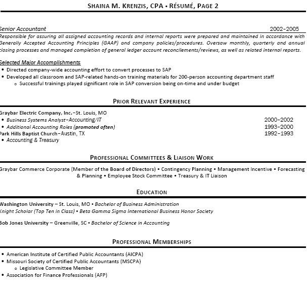 accounting professional resume. simple professional resume ...