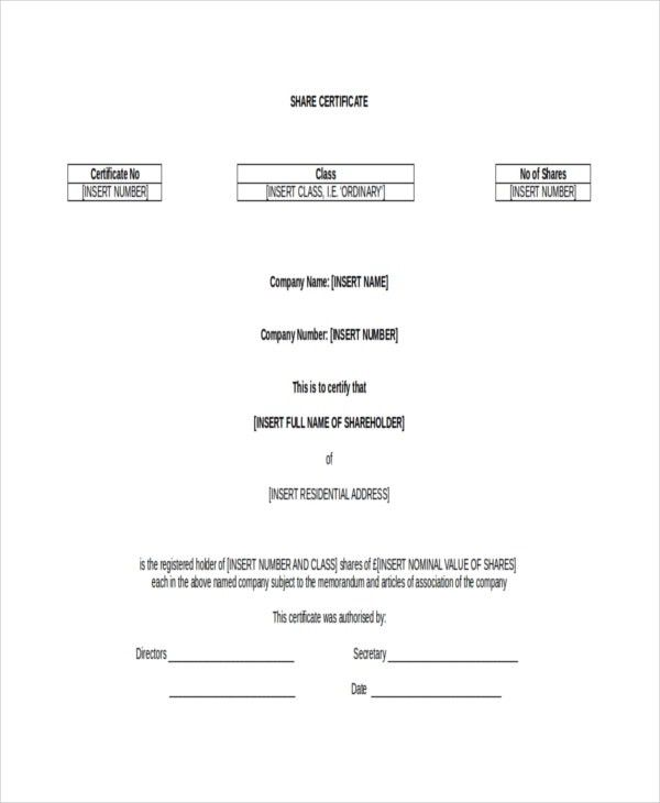 Shareholders certificate template share stock certificate printable certificate template 21 free word pdf documents yadclub Gallery