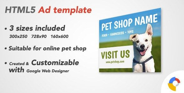 Ad HTML5 Template | Pet Shop by IndieBoyGames | CodeCanyon