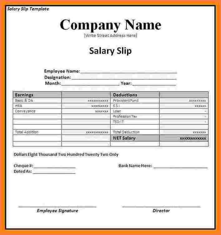 8+ salary invoice template | Sales Slip Template