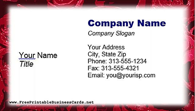 Free Printable Business Card Templates | ebook