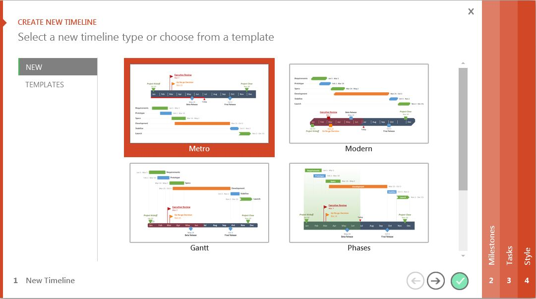 powerpoint 2013 create template make it project timelines in ...