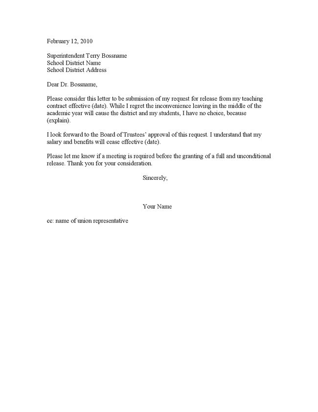 Resignation Letter: Perfect Retirement Letter Examples For Teacher ...