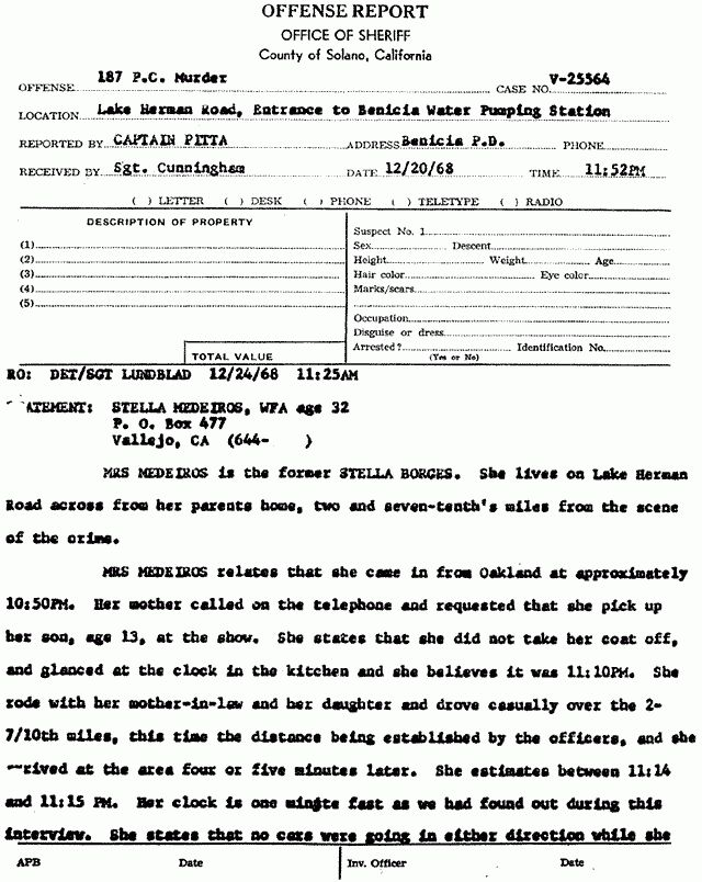 Investigation Report. Zodiackillersite.com U2022 View Topic   Witness U0026 U0027Person  Of Interest .  Homicide Report Template