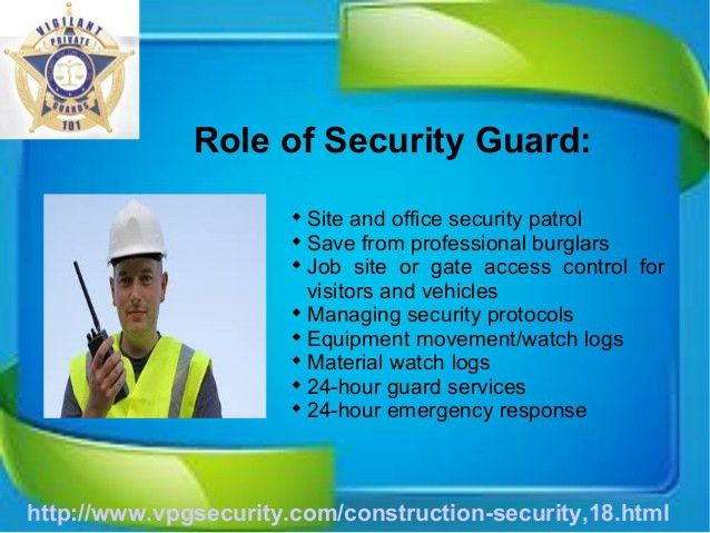 Benefits of Security Guards at Construction Sites
