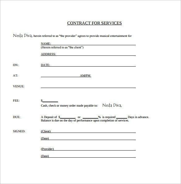 Simple Service Contract. Lease Agreement Letter Simple Lease ...